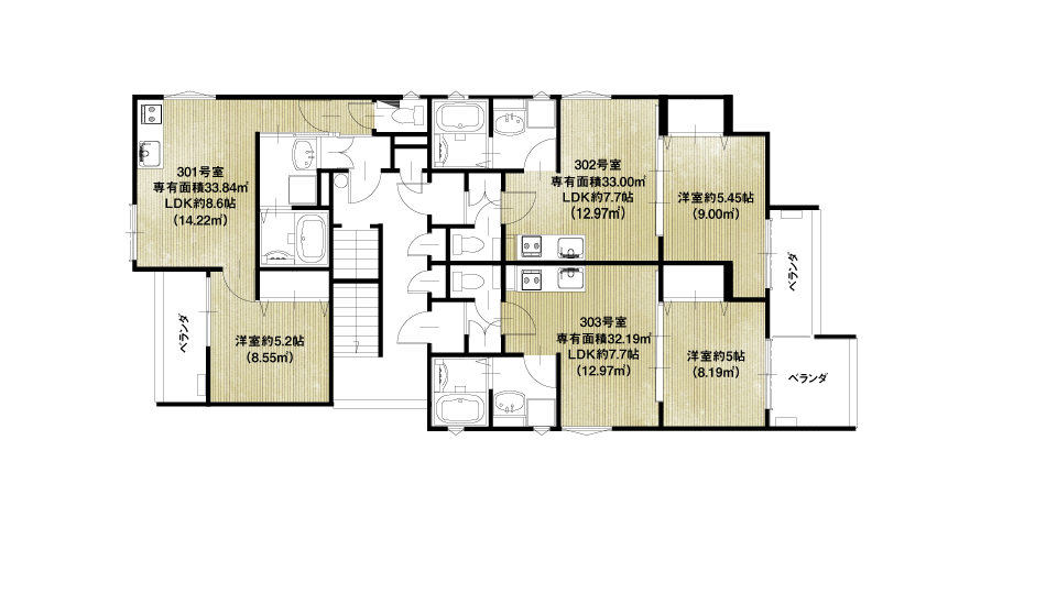 尼崎市小中島1丁目A棟収益新築マンション3F