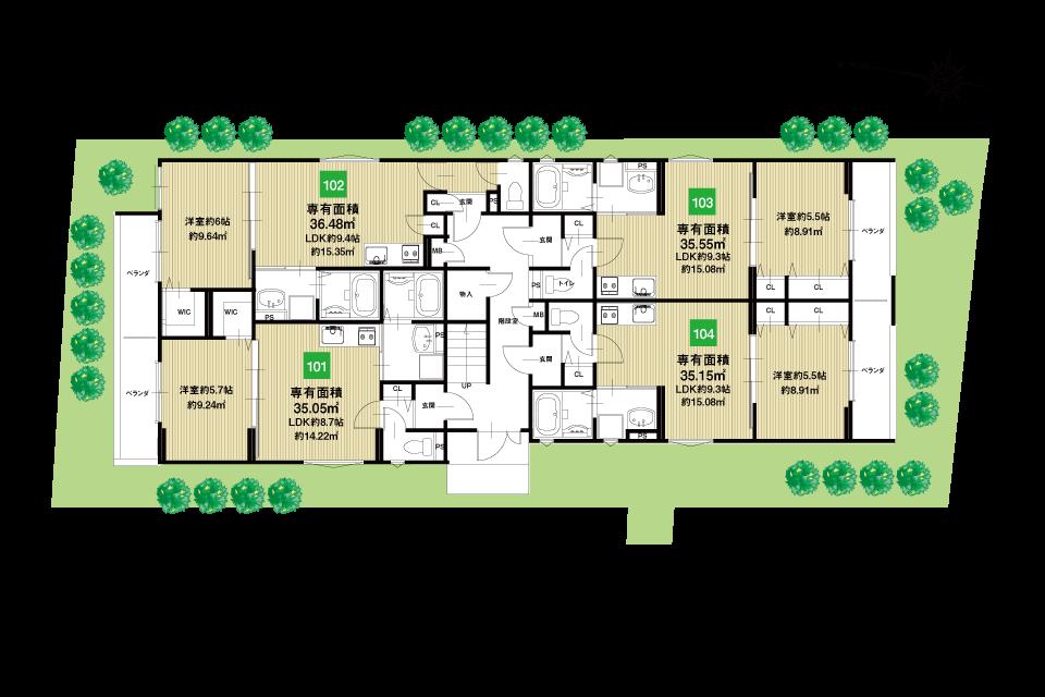 淀川区田川2丁目B棟収益新築マンション1F